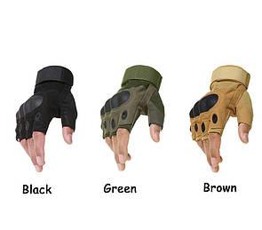 Тактические перчатки без пальцев с костями, Oakley реплика (Airsoft) Размер М