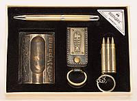 PN4-56 Набор для мужчин: Пепельница, Ручка, Зажигалка,  Брелок для ключей, Патриотический сувенир, Презент