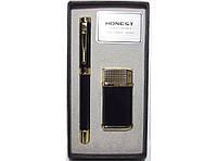 Подарочный набор HONEST PN5100: зажигалка + ручка, Деловой подарок, Сувенирный набор, Подарочная зажигалка