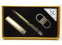 MTC-99 Подарочный набор MOONGRASS: ручка + брелок + зажигалка, Сувенирный набор под старую бронзу, Презент