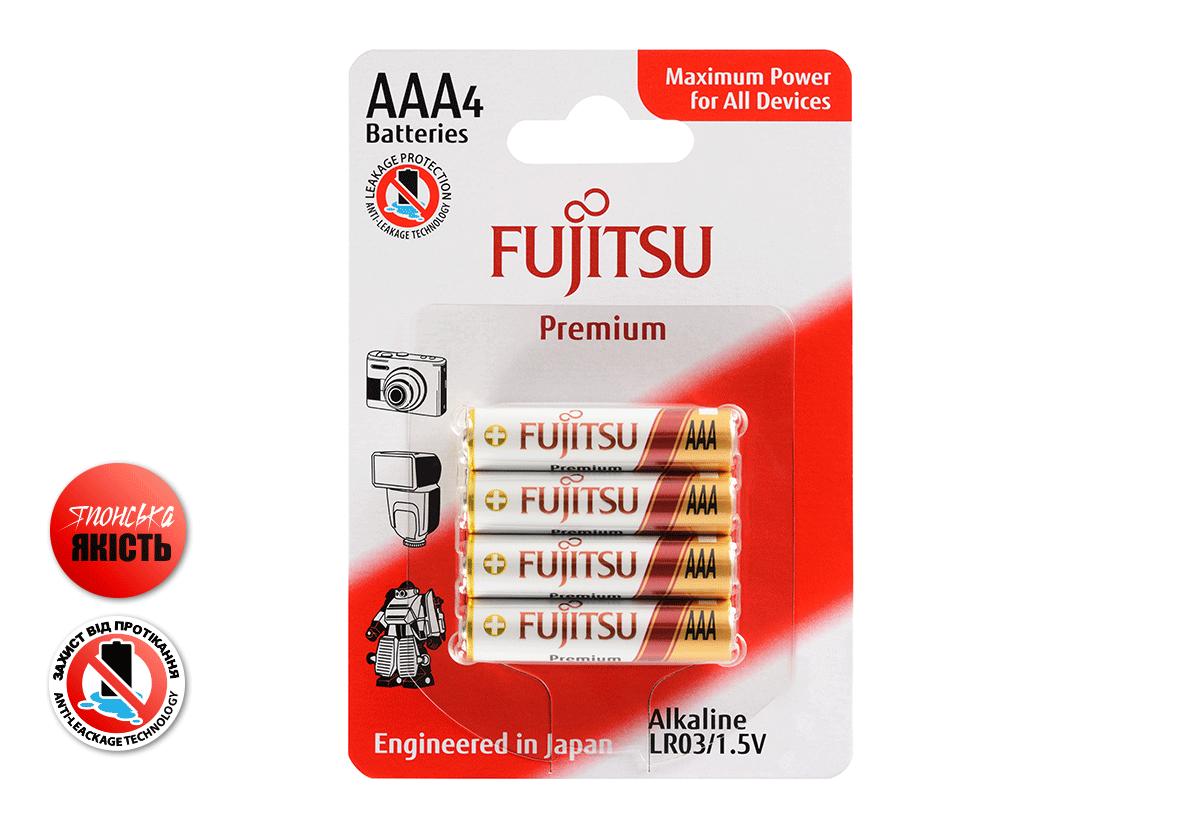 Лужна батарейка FUJITSU Alkaline Premium 4 шт