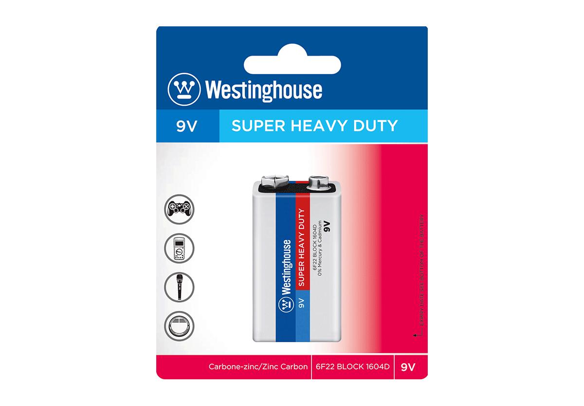 Солевая батарейка Westinghouse  Крона 1шт