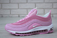 Женские кроссовки Nike Air Max 97 OG QS Pink/White / Найк Аир Макс 97 розовые
