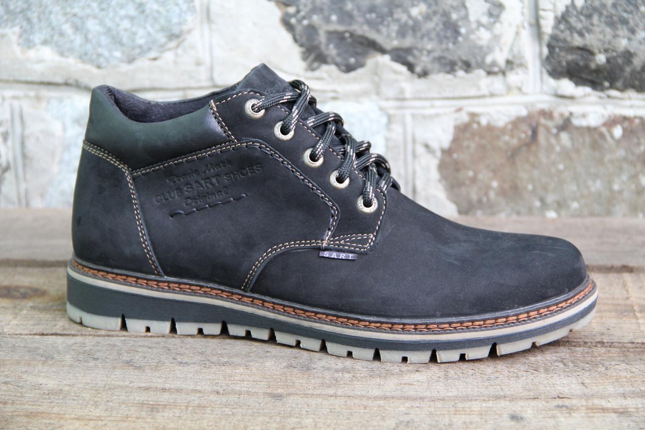 Мужские ботинки зимние из натуральной кожи и меха SART 730
