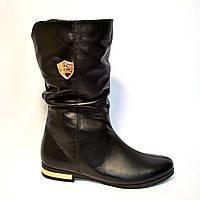 Ботинки кожаные зимние на низком ходу