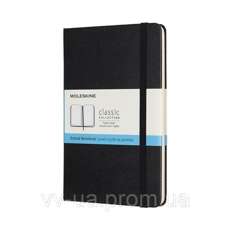 Записная книга Moleskine Classic медиум, твердая обл., черный, точка (QP053)