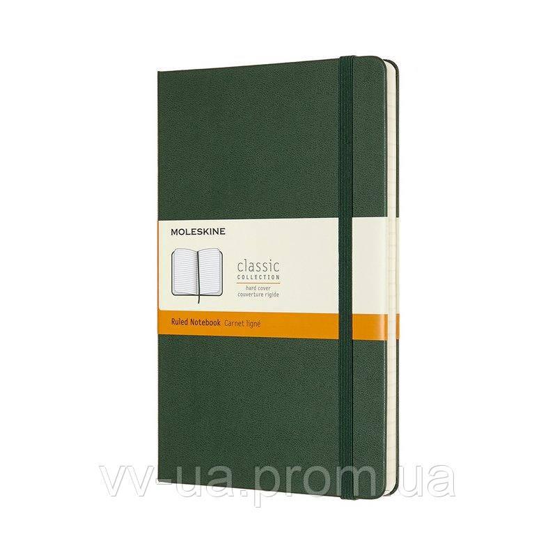 Записная книга Moleskine Classic средняя, твердая обл., миртовый зеленый, линия (QP060K15)