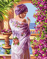 Картина по номерам Цветы у лоджы, 40x50 см, подарочная упаковка, Brushme (Брашми)