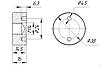 ODF-06-21-01 Конектор притискної монтажний для стійок з боковим кріпленням d38 M14, фото 2