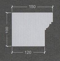 Подоконник гипсовый Пг-6, фото 1