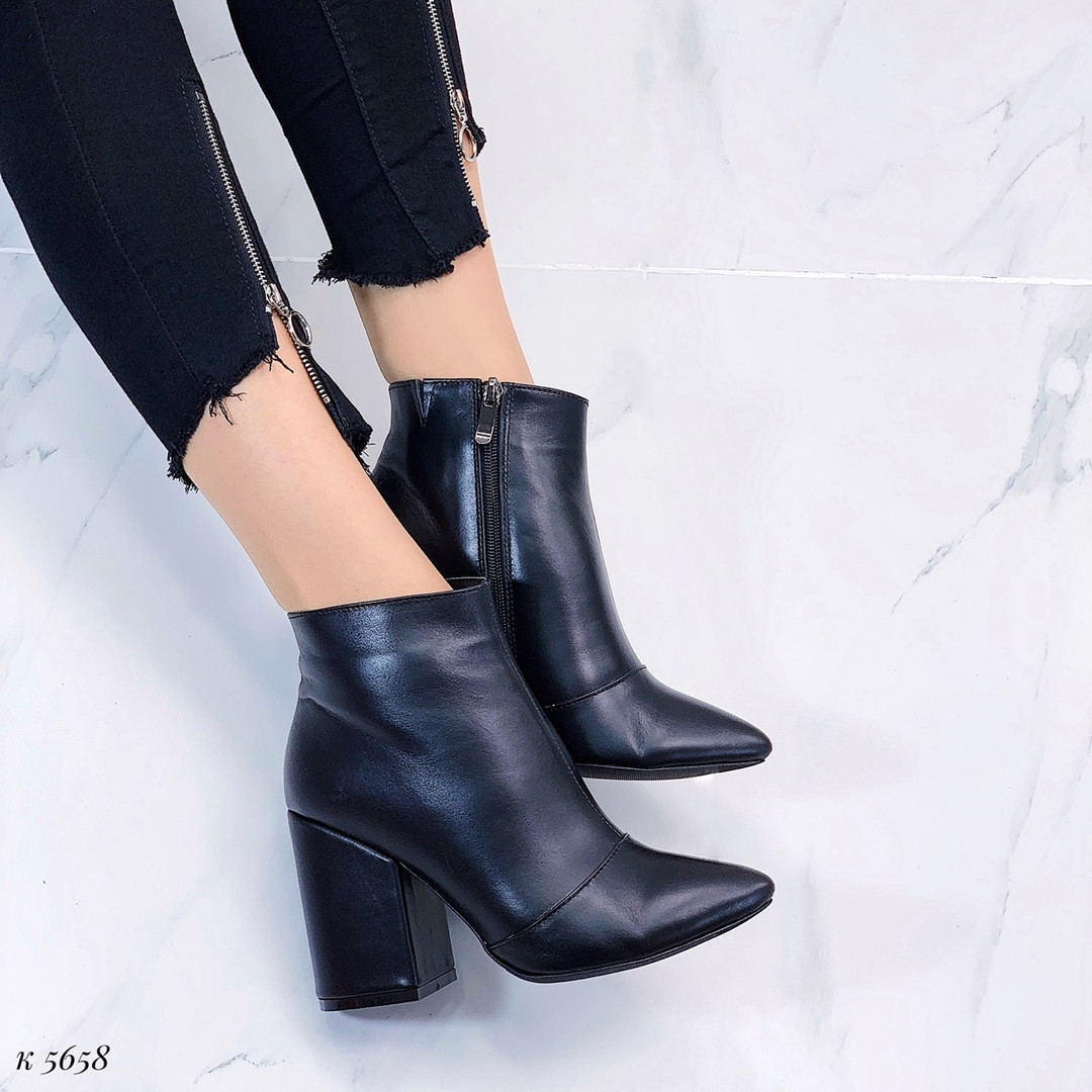 Кожаные ботинки весна