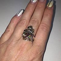 Висмут кольцо висмут 18-18,5 размер. Кольцо с висмутом в серебре Индия, фото 1