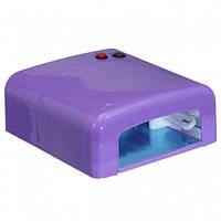 УФ лампа для наращивания ногтей 36 Вт Фиолетовая