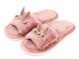 Комнатные тапки для девочки Темно-розовый Размеры: 30-31;