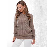 """Жіночий теплий кавовий светр """"Бланка"""""""