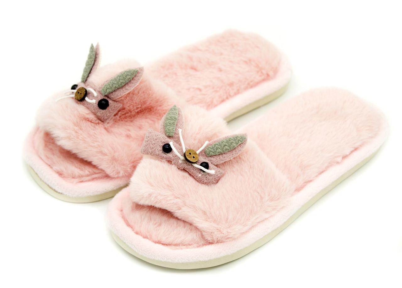 Комнатные тапки для девочки Светло-розовый