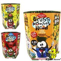 Набір для творчості Grass Monsters Head Зростаючі вихованці Чарівний Біб у подарунок Danko Toys GMH-01-01U   - CM02594