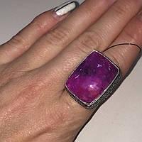 """Кольцо с камнем агат """"вены дракона"""" в серебре кольцо с агатом 17,3 размер Индия, фото 1"""