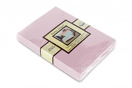 Простынь на резинке трикотажная Nostra 90х200 розовая, фото 2