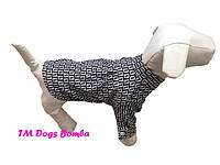 Рубашка для собак серая c квадратиками
