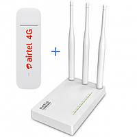 Комплект WiFi роутер Netis MW5230 + 4G модем Huawei E3372