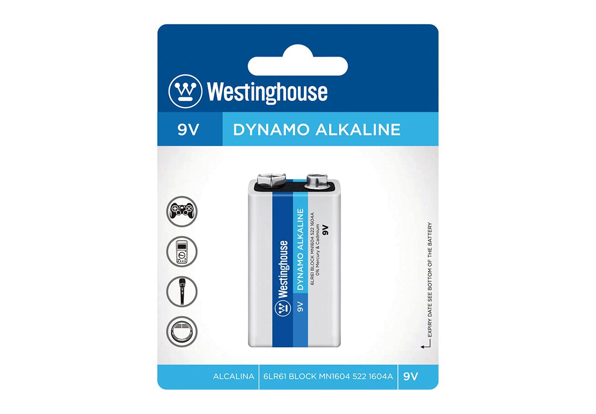 Щелочная батарейка Westinghouse  Крона 1шт