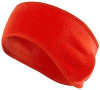 Теплая спортивная повязка на голову Vegard из флиса красная