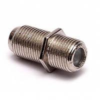 F-штекер антенный соеденитель кабеля бочка цинковый R150960
