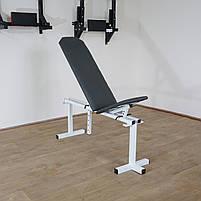 Лавка регульована (до 200 кг) + Стійки під штангу з страховкою (до 200 кг), фото 7