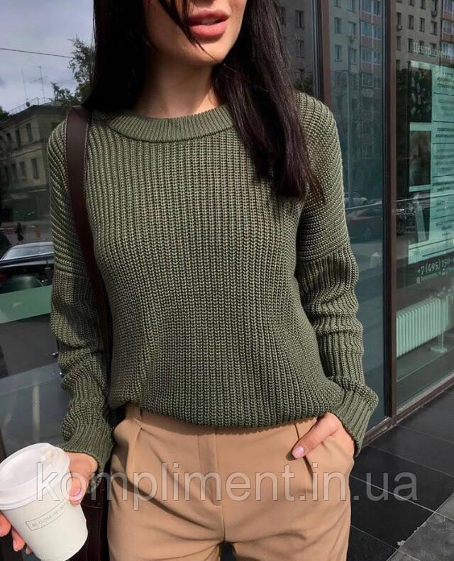 Модний жіночий в'язаний светр, BK - 23