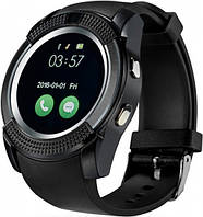 Умные часы Smart V8 Black, Часы смарт Smart watch, Bluetooth UWatch, Часофон, Умный браслет-часы