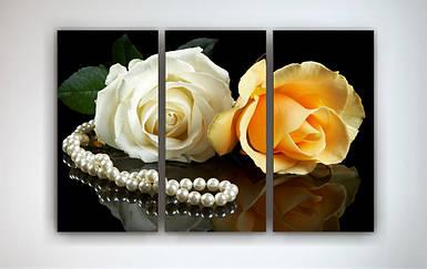 Модульная картина на холсте Розы