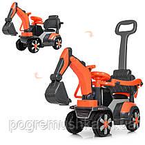Детский электромобиль – каталка «Bambi» M 4141L-7 Оранжевый