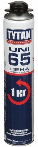 Монтажная пена профессиональная TYTAN UNI 65, 1 кг, 750 мл