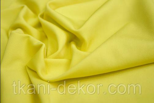 Сатин (бавовняна тканина) лимон однотон