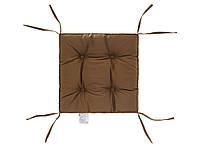 Подушка на стул капучино 40х40 см DOTINEM COLOR