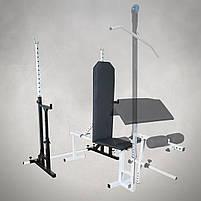 Лавка регульована (до 200 кг) + Стійки під штангу з страховкою (до 200 кг), фото 3