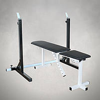 Лавка регульована (до 250 кг) + Стійки під штангу (до 250 кг), фото 2