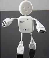 USB-хаб, 4 порта USB 2.0 человечек, фото 1