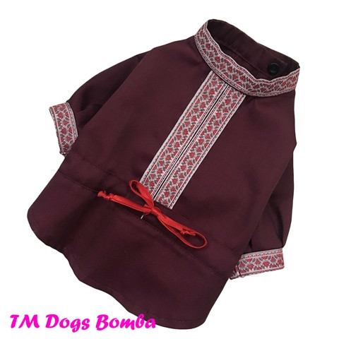 Сорочка для собак бордова