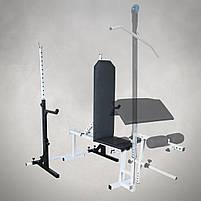 Лавка регульована (до 250 кг) + Стійки під штангу з страховкою (до 200 кг), фото 3