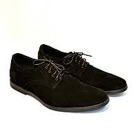 """Мужские замшевые туфли черного цвета на шнуровке от производителя ТМ """"Maestro"""", фото 1"""