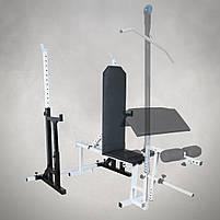 Лавка регульована (до 250 кг) + Стійки під штангу з страховкою (до 250 кг), фото 3