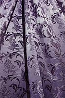 Портьерная ткань для штор Жаккард с рисунком сиреневого цвета