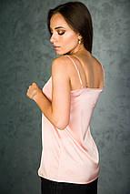 Майка шелковая с гипюром, фото 3