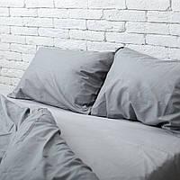 Постельное белье двуспальное поплин PF027 светло-серый/тёмно-серый Хлопковые традиции, фото 1