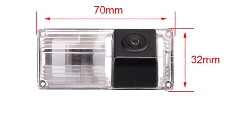 Камера заднего вида универсальная Toyota Prado Land Cruiser  цветная матрица CCD