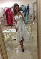 Асимметричное шифоновое платье с запахом
