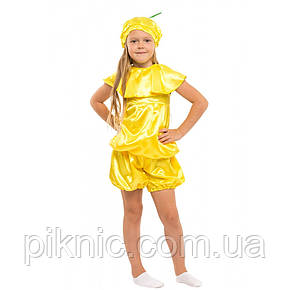Костюм Лимон для детей 7,8 лет. Детский карнавальный костюм для мальчиков и девочек. 340, фото 2