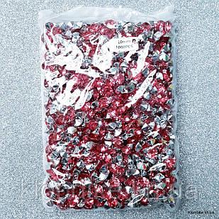 Стразы конусные, 10 мм, Акрил, Цвет: Малиновый (1000 шт.)